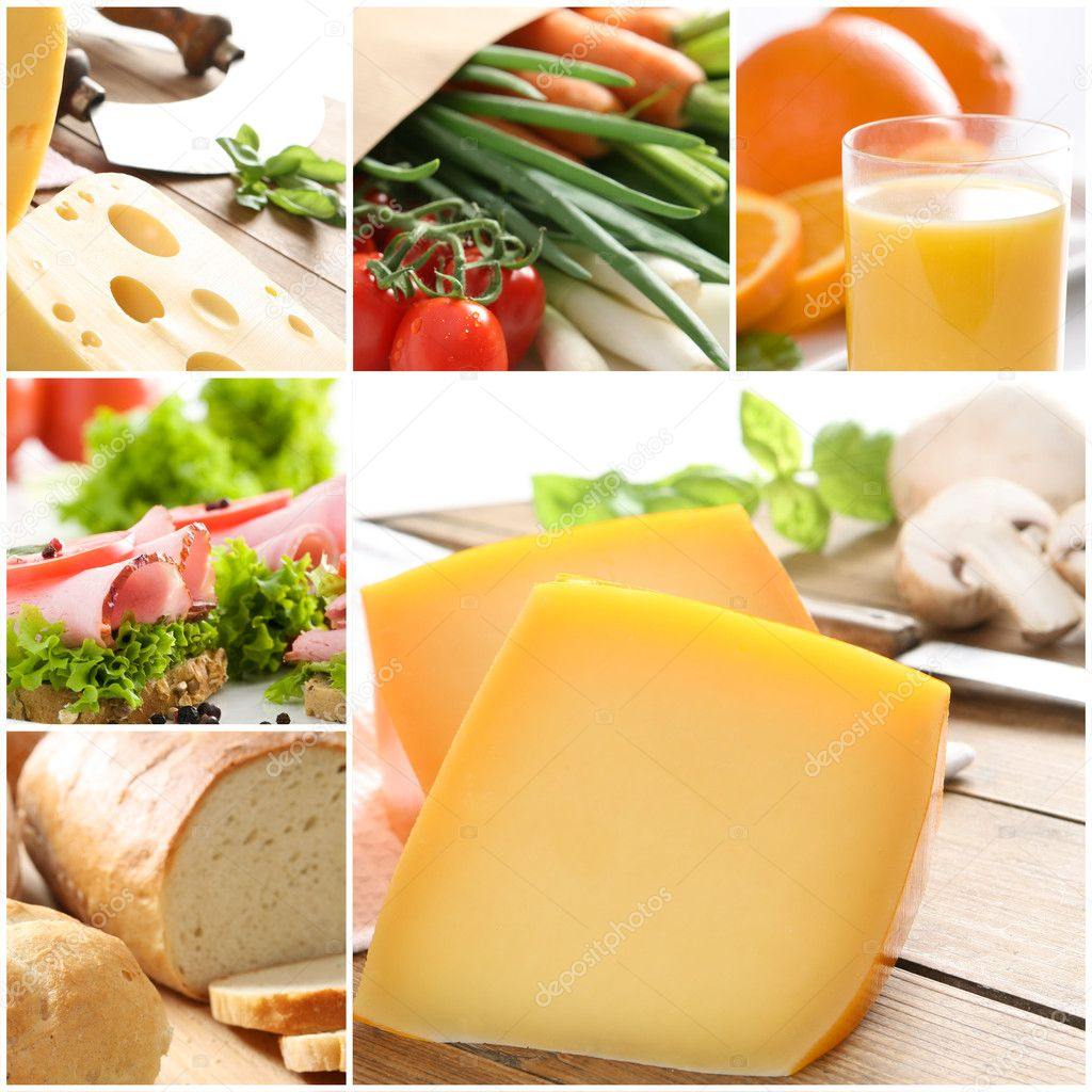 Healthy food collage  — Stock Photo #1874980