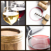 White and red wine — Stock Photo