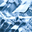 Ice cubes in blue ambient light. Good fo - Stock Photo