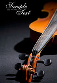 Old violin. Space for text isolated on b — Stock Photo
