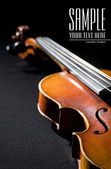 Close-up on violin. Space for text isola — Stock Photo