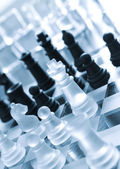 Black and white pieces of chess — Stock Photo