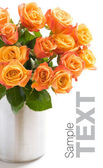 Bouquet di rose arancio — Foto Stock