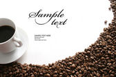 White cup of coffee — Foto Stock