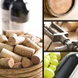 Wine collage - Stockfoto