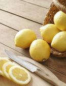 Lemons in the basket — Stock Photo