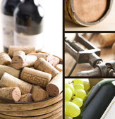 Vino collage — Foto Stock