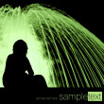 Woman next to the green fountain — Stock Photo #2213928