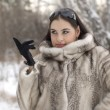 Royalty-Free Stock Photo: Girl in a fur coat