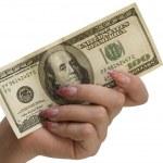 mano y dinero — Foto de Stock