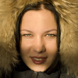 The girl in a fur hood — Stock Photo #1783172