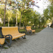 Stock Photo: Two benches