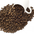 Stock Photo: Coffee beans and cup