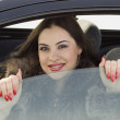 Girl in the car — Stock Photo #1788599
