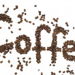Inscription coffee — Stockfoto