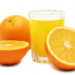 Orange juice and fruits — Stock Photo