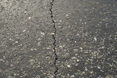 Rift on asphalt — Stock Photo