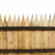 Fence on white — Stock Photo