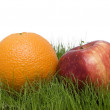 Stock Photo: Apple and orange