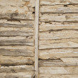 Log wall - Stock Photo