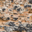 Broken brick wall — Stock Photo