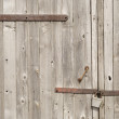 Lock and wooden gate — Stock Photo