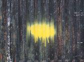 Pinte ponto sobre uma superfície metálica enferrujada — Foto Stock