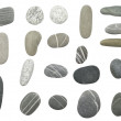 Stock Photo: Pebbles on white