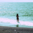 Woman at the beach - 