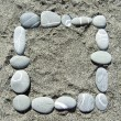 Stock Photo: Pebble frame
