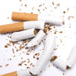 Stock Photo: Broken cigarettes