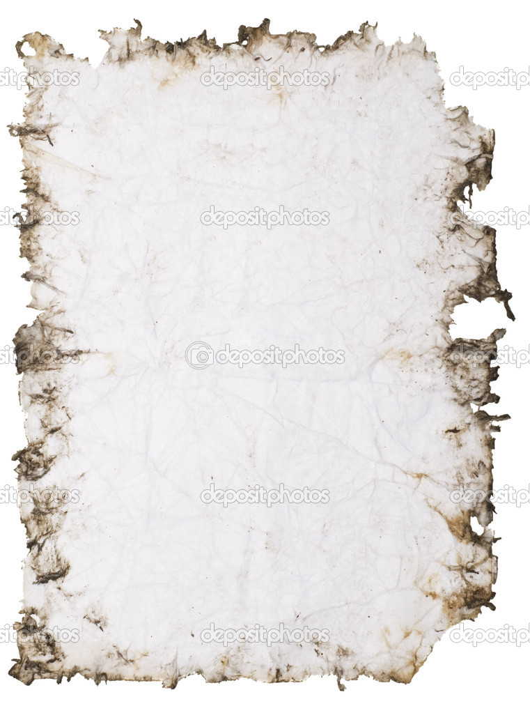 Old stained paper with rough edges — Stock Photo #1821134