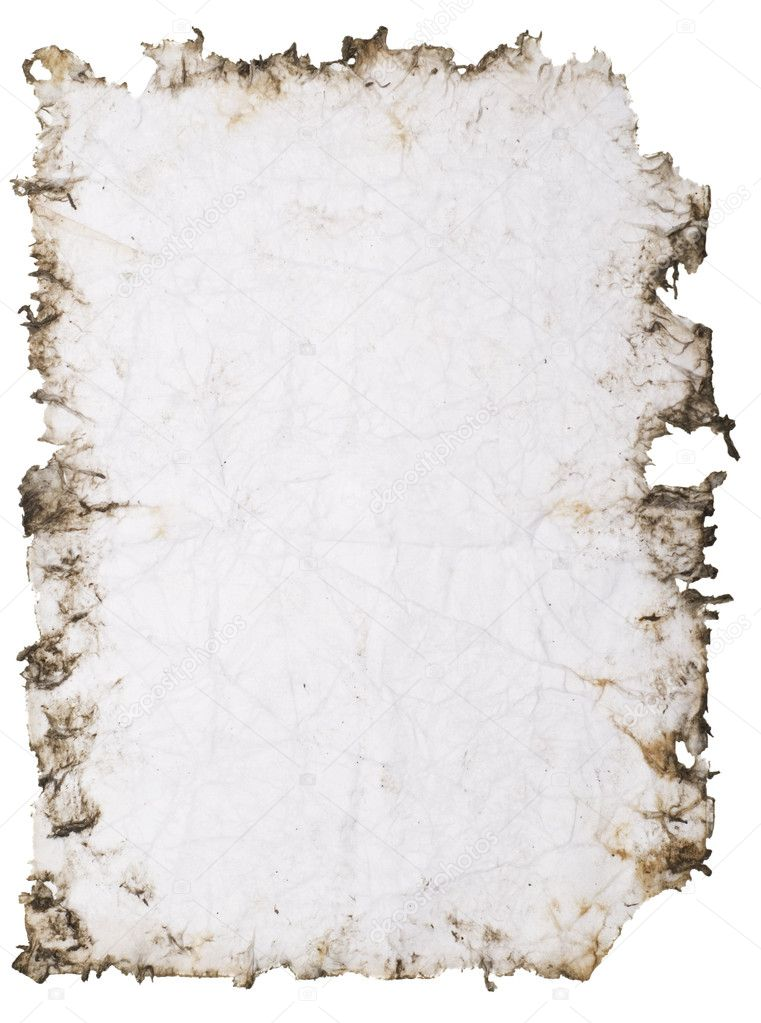 Old stained paper with rough edges  Photo #1821134