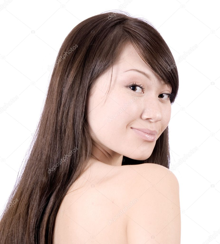 The young beautiful woman over white — Stock Photo #1829020