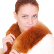 Woman in fur coat — Stock Photo #1840295