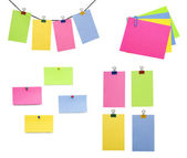 Color paper blanks — Stock Photo