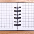 Open spiral notebook — Stock Photo