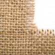 sackcloth material — Stock Photo