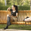 Woman on bench — Stock Photo #1882719