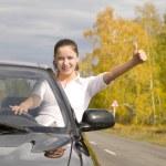Happy driver — Stock Photo