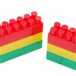 Plastic bricks — Stock Photo