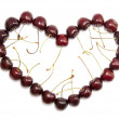 Cherry heart — Stock Photo