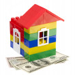 House on dollars — Stock Photo