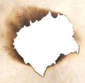 Burnt hole — Stock Photo