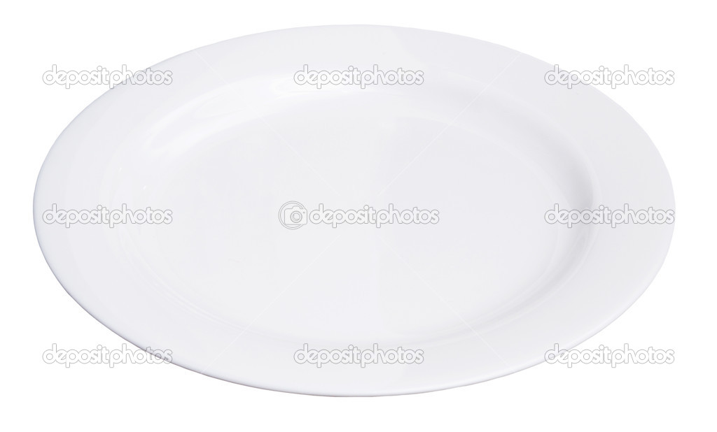 White plate isolated on white — Stock Photo #1881732
