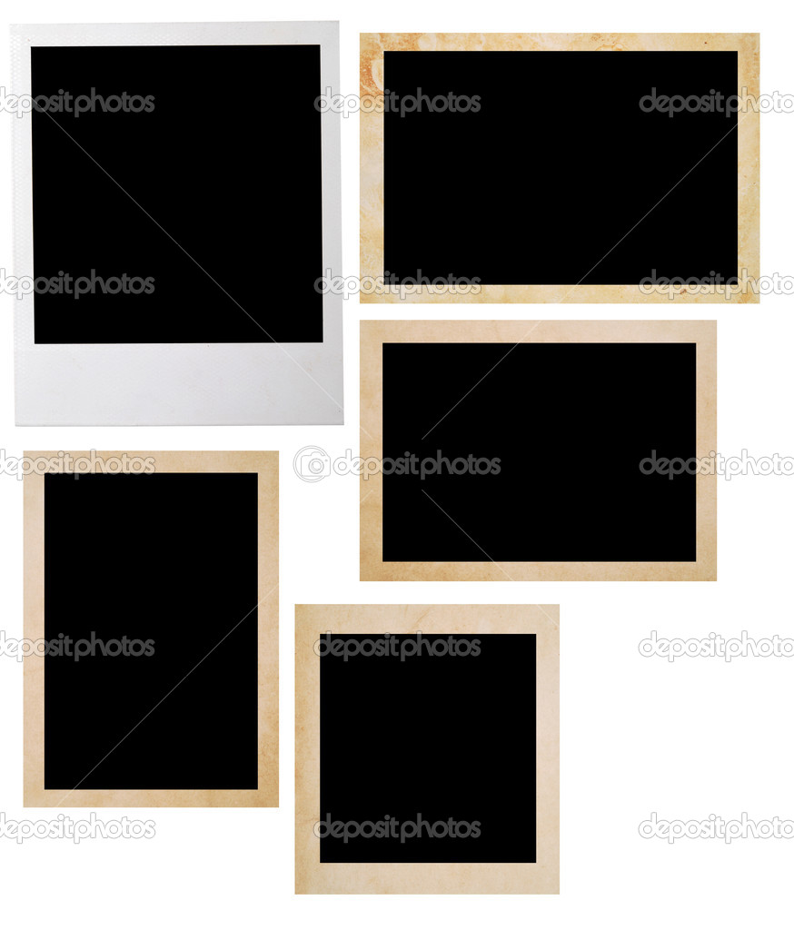 Photo frames isolated on white  Stock Photo #1886019