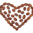 Stock Photo: Coffee heart
