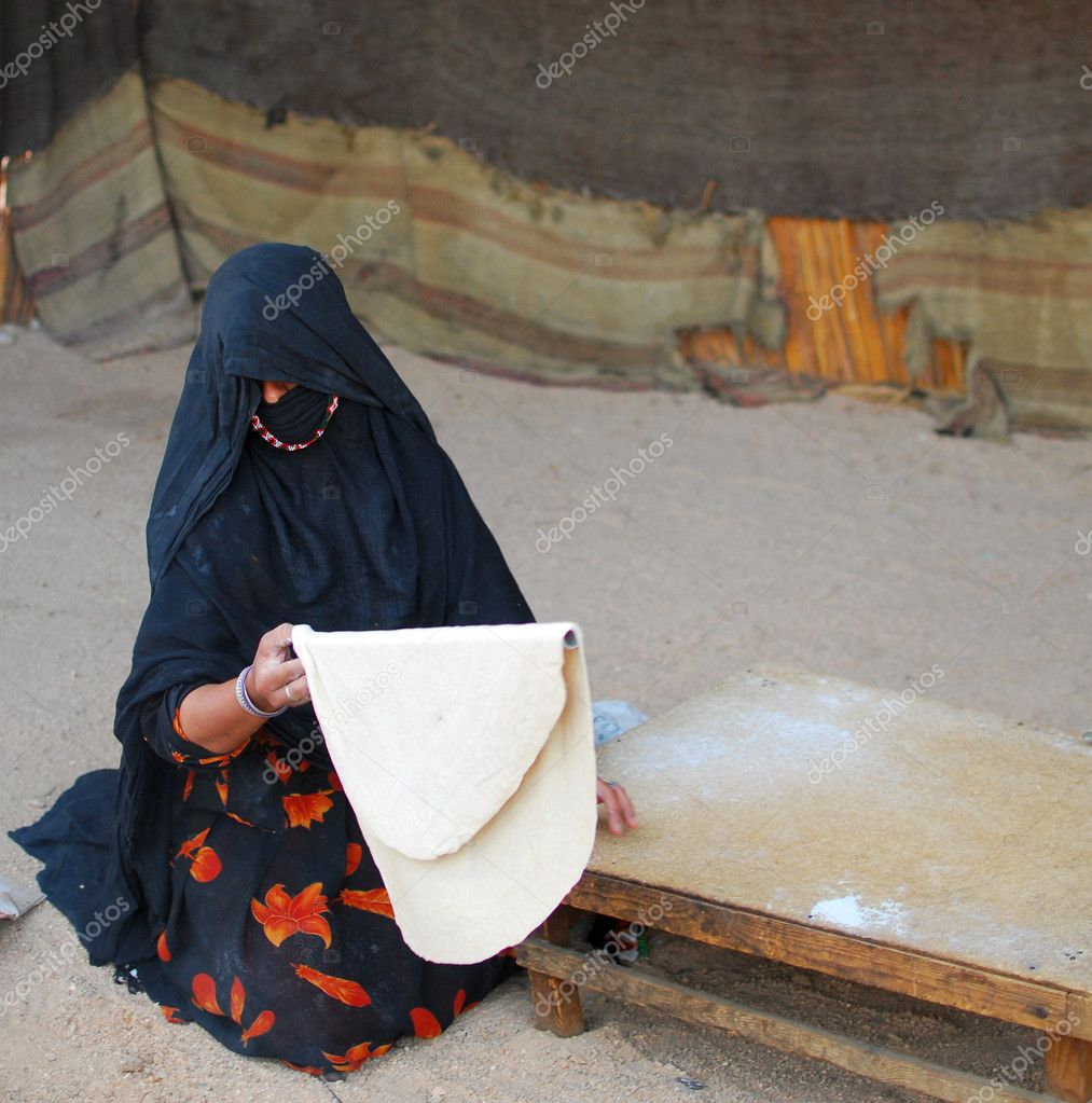 Bedouin woman at work  Stock Photo #2591345