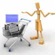 Royalty-Free Stock Photo: Man And Shopping Cart
