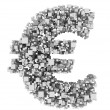 Royalty-Free Stock Photo: Euro from cubes